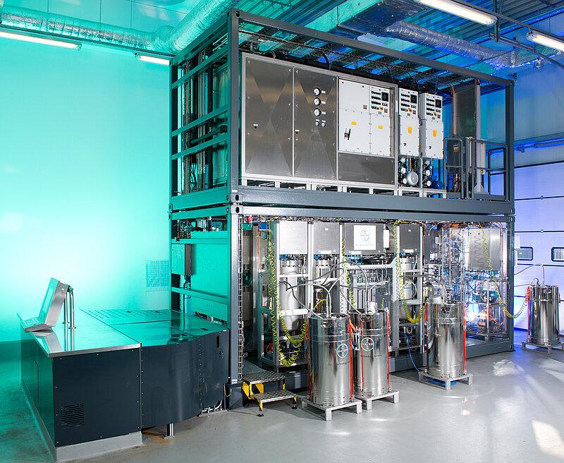 Photo of a modular pilot plant