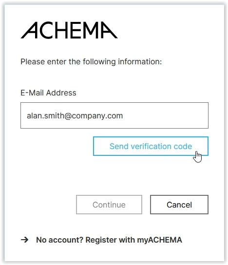 Send verification code