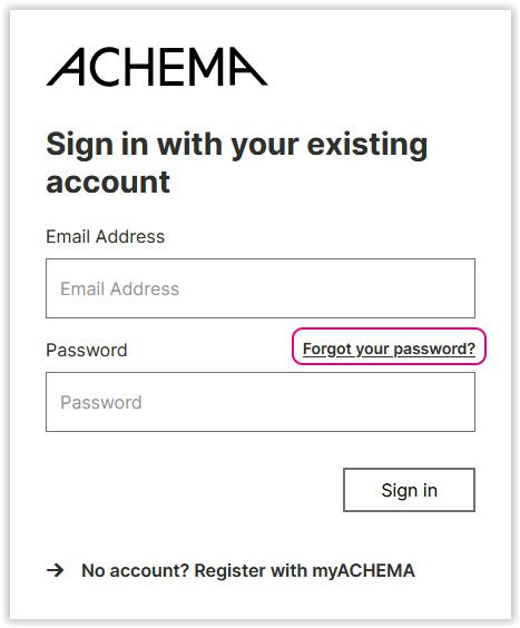 Forgot your password function