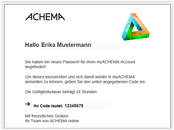 E-Mail mit Verification-Code