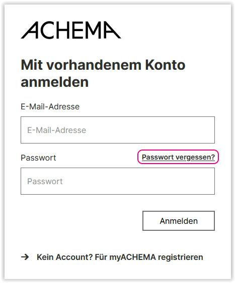 Passwort vergessen-Funktion
