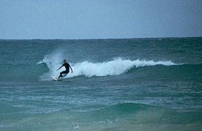 Surfer at Santa Maria